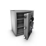 Caja fuerte abierta Imágenes de archivo libres de regalías