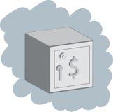 Caja fuerte cerrada ilustración del vector