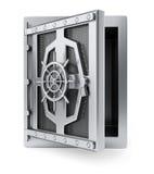 Caja fuerte con la puerta de abertura Imágenes de archivo libres de regalías
