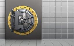 caja fuerte de la caja del metal 3d Imágenes de archivo libres de regalías