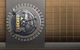 caja fuerte de la caja del metal 3d Foto de archivo libre de regalías