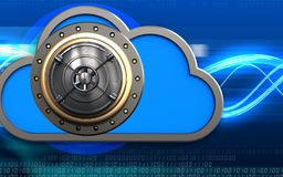 caja fuerte de la nube 3d Fotografía de archivo libre de regalías