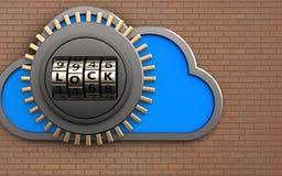 caja fuerte de la nube 3d Imagen de archivo