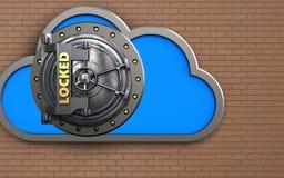 caja fuerte de la nube 3d Stock de ilustración
