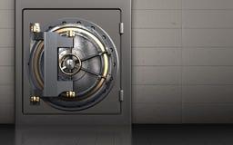 caja fuerte de la puerta de la cámara acorazada 3d Imágenes de archivo libres de regalías