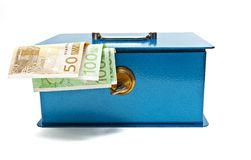 Caja fuerte del dinero Fotos de archivo libres de regalías
