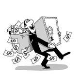 Caja fuerte del dinero fotografía de archivo libre de regalías