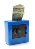 Caja fuerte del dinero Foto de archivo libre de regalías