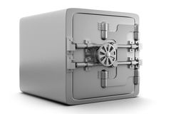 caja fuerte del metal 3d Foto de archivo libre de regalías