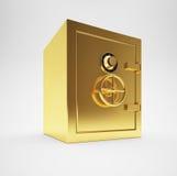 Caja fuerte del oro Imagenes de archivo