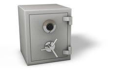 Caja fuerte en blanco Foto de archivo