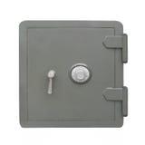 Caja fuerte gris de la combinación aislada imágenes de archivo libres de regalías