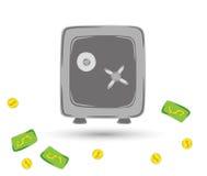 Caja fuerte para la protección de sus objetos de valor Foto de archivo libre de regalías
