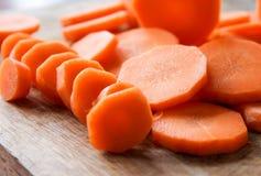 Caja fuerte hermosa cortada limpia de la zanahoria de las verduras frescas Imagen de archivo