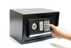 Caja fuerte negra imagen de archivo