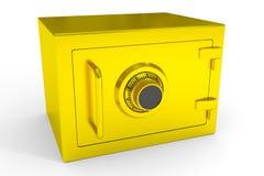 Caja fuerte poco cerrada del oro. Fotografía de archivo