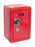 Caja fuerte roja del moneybox Foto de archivo
