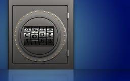 caja fuerte segura 3d Imagen de archivo libre de regalías