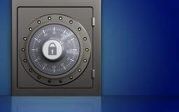 caja fuerte segura 3d Foto de archivo libre de regalías