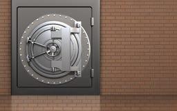 caja fuerte segura del metal 3d Fotografía de archivo libre de regalías