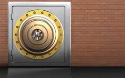 caja fuerte segura del metal del metal 3d Stock de ilustración
