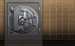 caja fuerte segura del metal 3d Foto de archivo libre de regalías