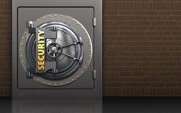 caja fuerte segura del metal 3d Imagen de archivo