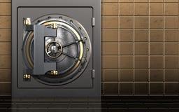 caja fuerte segura del metal 3d Imágenes de archivo libres de regalías