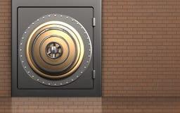 caja fuerte segura del metal del metal 3d Fotografía de archivo libre de regalías