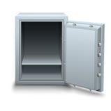 Caja fuerte vacía del banco para el icono del concepto del negocio de dinero Imagenes de archivo