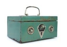 Caja fuerte verde vieja Imagen de archivo