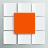 Caja grande de la información para una gran cantidad de información, el estilo de papel Imagen de archivo