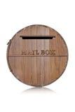 Caja hecha de pedazos de madera Imagen de archivo libre de regalías