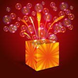 Caja mágica con las burbujas Fotografía de archivo