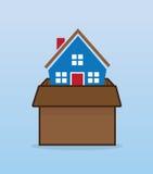 Caja móvil de la casa Fotografía de archivo libre de regalías