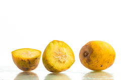 Caja-Manga Fruit. Spondias dulcis. Over a white background stock photography