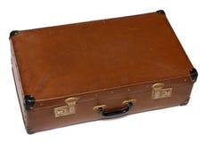 Caja marrón estropeada vieja Foto de archivo