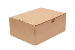 Caja simple del cartón Imagen de archivo libre de regalías