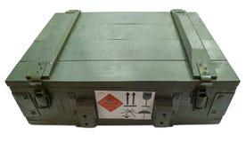 Caja militar con el explosivo Imagen de archivo