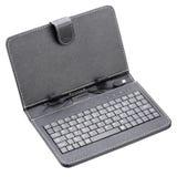 Caja negra con el teclado para la tableta Foto de archivo
