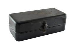 Caja negra del metal Foto de archivo
