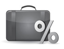 Caja negra del negocio y símbolo del porcentaje Imágenes de archivo libres de regalías
