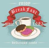 Caja o ejemplo del menú del desayuno Foto de archivo libre de regalías