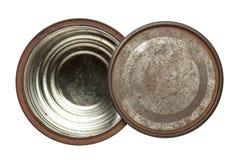Caja oxidada de la lata Foto de archivo