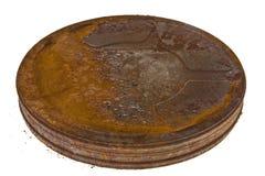 Caja oxidada vieja de la película Imágenes de archivo libres de regalías