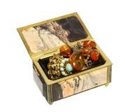 Caja para el almacenamiento de la joyería Fotografía de archivo libre de regalías