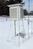 Caja para el equipo meteorológico Imagenes de archivo