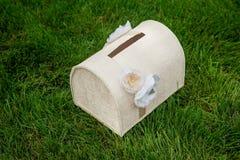 Caja para los regalos para una boda Fotos de archivo libres de regalías
