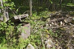 Caja quebrada-para arriba del hierro Foto de archivo