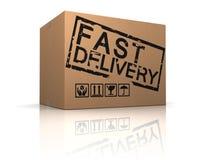 Caja rápida de la entrega Imagen de archivo libre de regalías